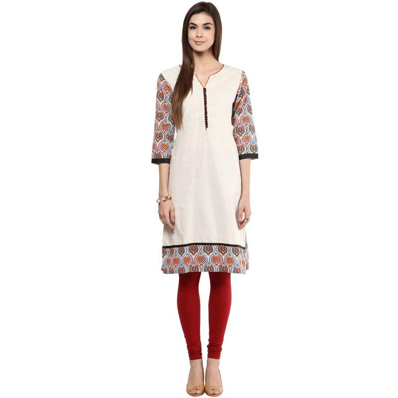 Buy Prakhya Jaipur Printed Womens Long Straight Red Cotton Kurti (code - Sw763red) online
