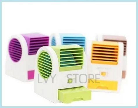Buy Battery USB Fan Fragrance Fan Mini Leaves Air Conditioning Fan Air Conditioner online