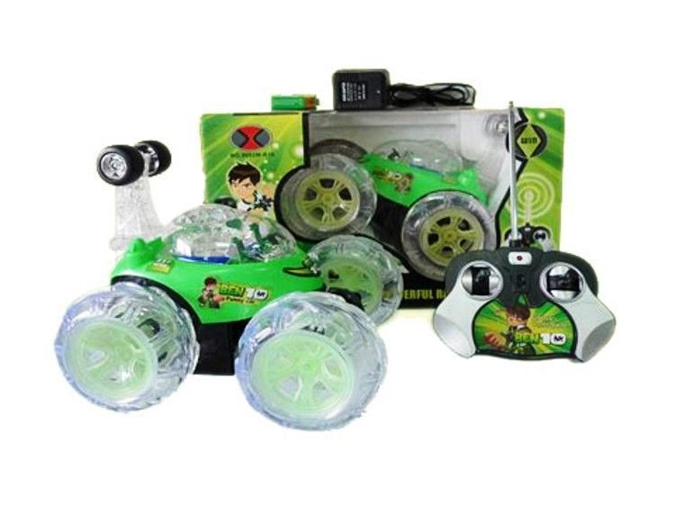 Buy Ben10 Chargeable Rc Stunt Car With LED Lights online