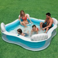 Buy Family Pool Intex Inflatable Swimming Pool With Seats online