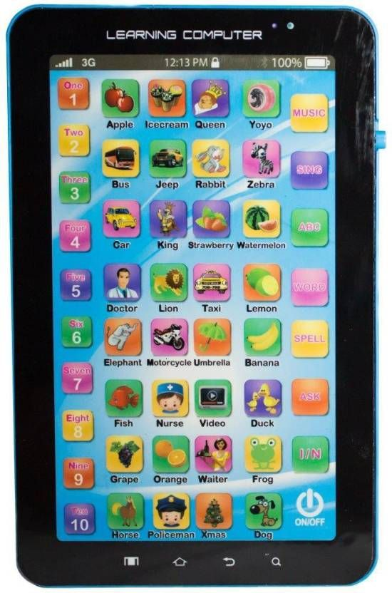 Buy English Learner Kids Tablet Abc And 123 Learning P1000 online