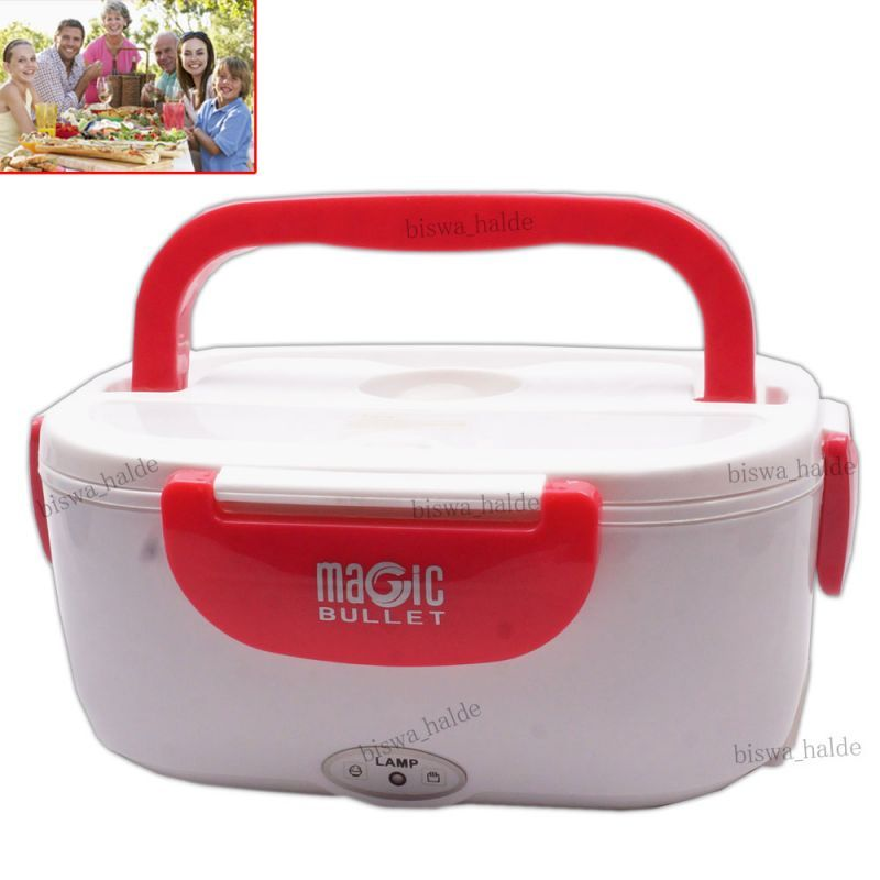 Buy Electric Hot Tiffin Thermostat Heat Lunch Box Warm Container Portable 40w Spoon online