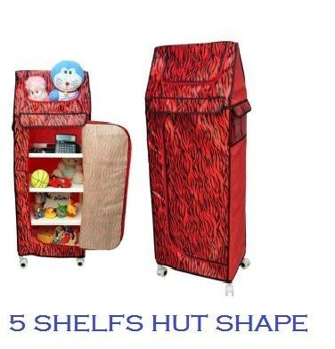 Buy Kids Room Folding Cloth Almirah Multi Purpose With Wheels By Nau Nidh online
