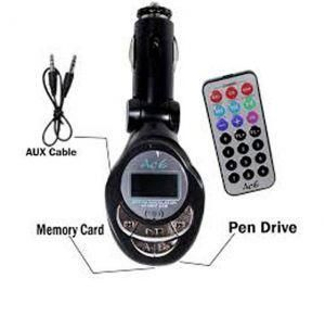 Buy Mns Car MP3 FM Modulator Transmitter With USB And Memory Card Slots online