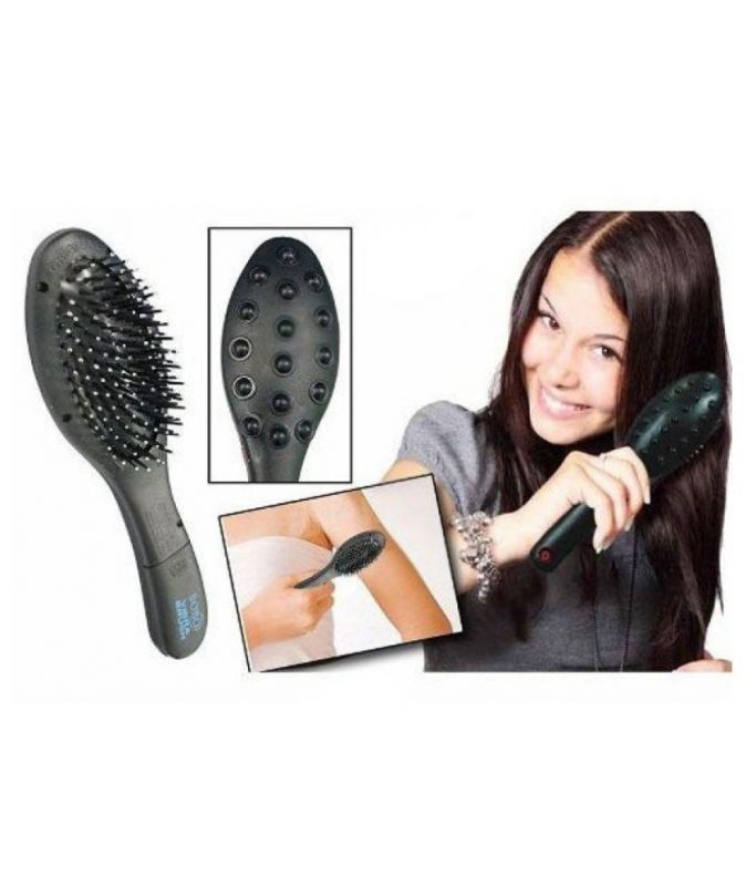 Buy Accupressure Magnetic Hair Brush With Electronic Head Massager online
