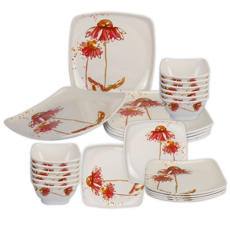 Buy Melamine Square Shape Dinner Set 32 PCs online