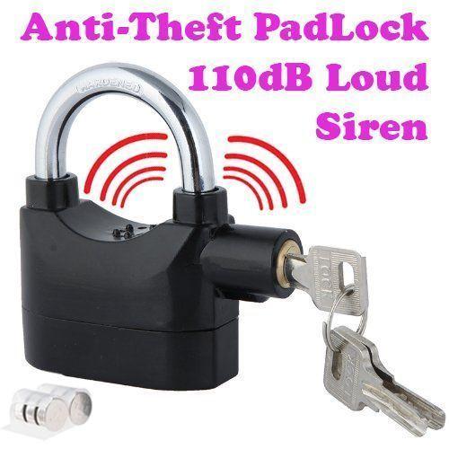 Buy Gadget Heros Anti Theft Burglar Pad Lock Alarm Security Siren Home Office online