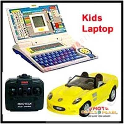 Buy Kids Educational Laptop And Remote Control Car online