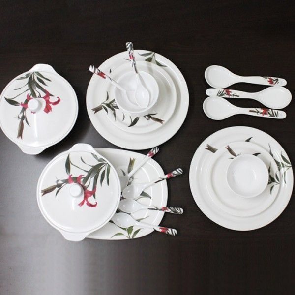 Buy Fortune 32 PCs Melamine Dinner Set, Blossom online