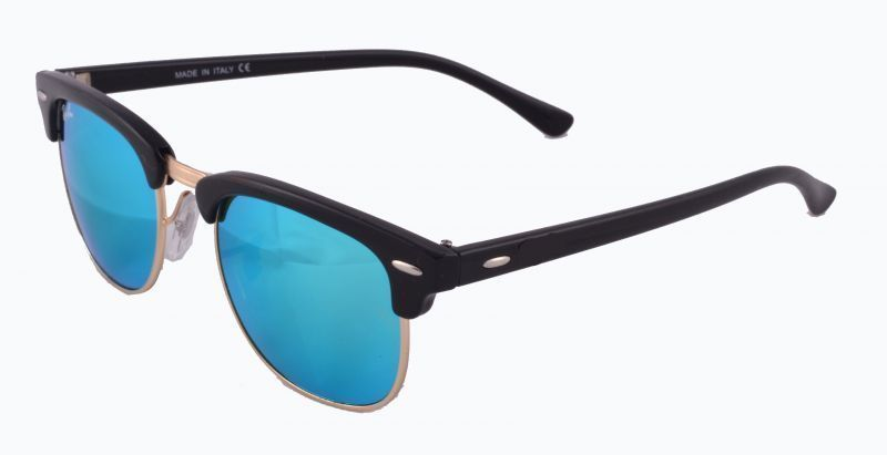 Buy Indmart Blue Mirror Sunglass Clubmaster Black O online