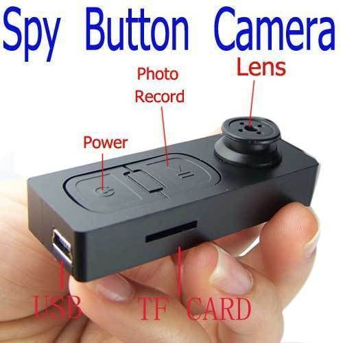 Buy Spy Button Camera Video Audio Recorder Mini Dvr USB Vibration online