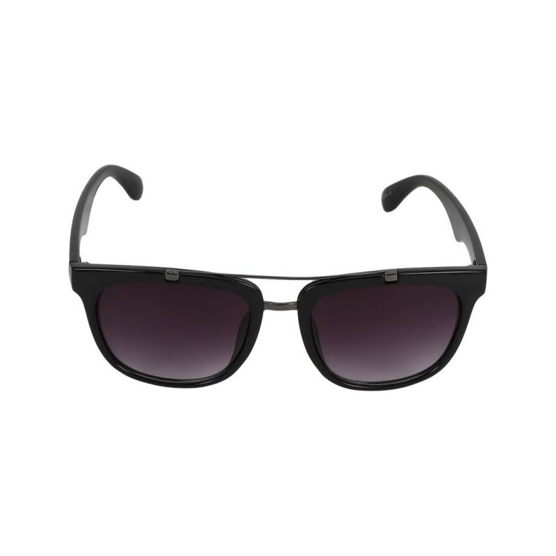 Buy Visach Clubmaster Black Sunglasses For Men online