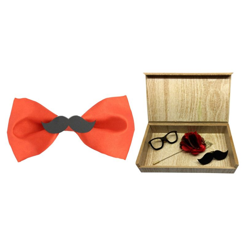 Buy Visach combo of Men party wear accessories with stylish bow Tie online