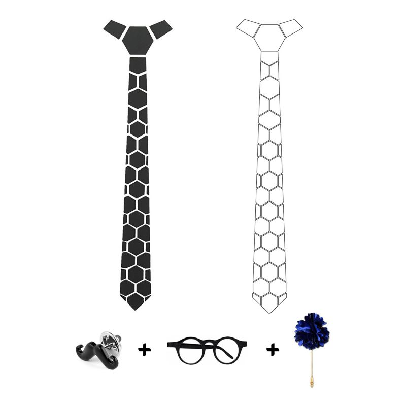 Buy Visach Designer Tie With Three Free Accessories For Men online