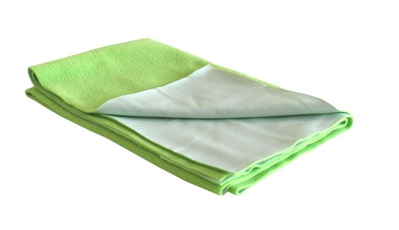 Buy Glassiano Ninnu  Water Proof Large Size 140X100 Cm Pista Green Baby Sheet online