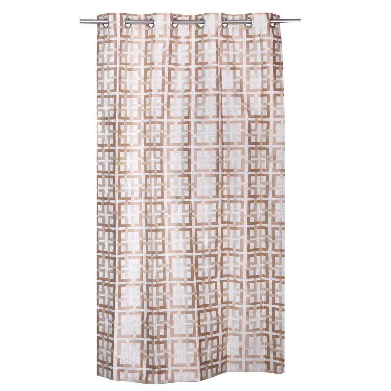 Buy Be White Jacquard Geometrical Design Door Curtain online