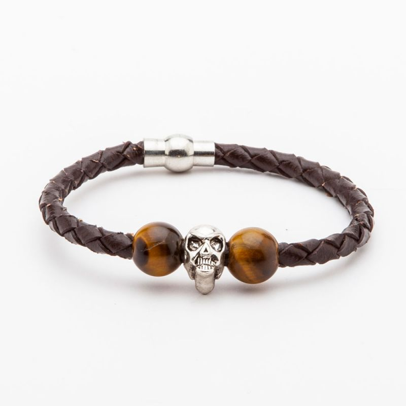 Buy Dapper Homme Brown Color Leather Bracelet For Men online