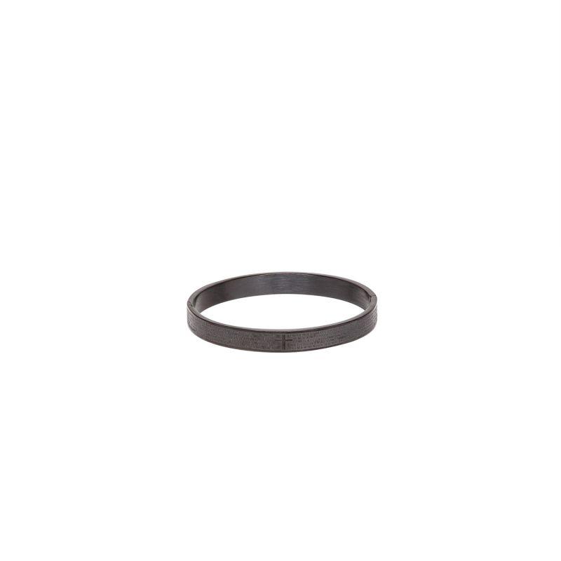 Buy Dapper Homme Black Stainless Steel Kada For Mens - Dhbr1723 online
