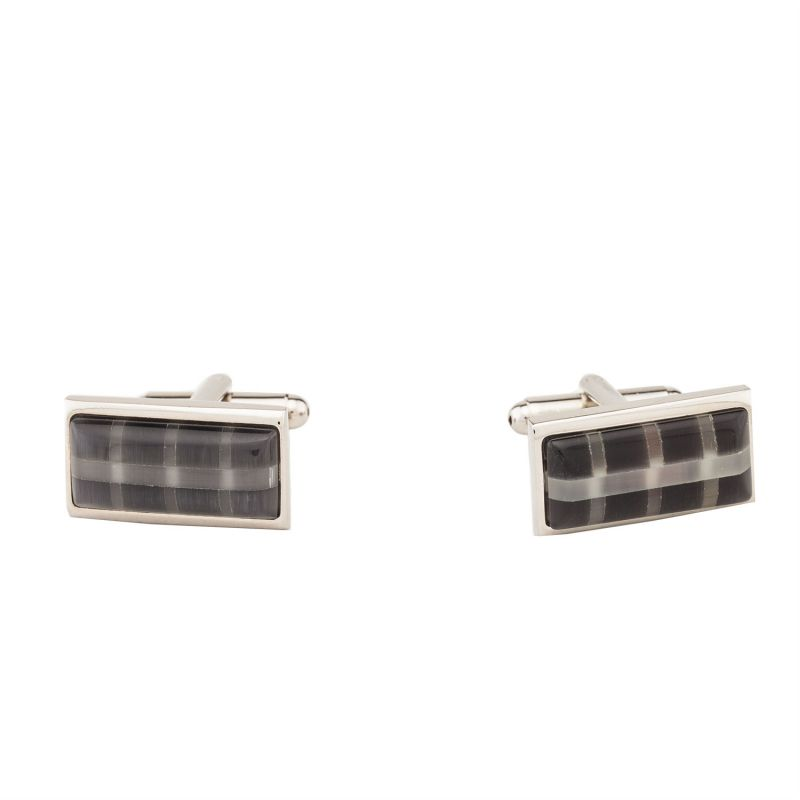 Buy Dapper Homme Self Design Black Color Cufflinks For Men online