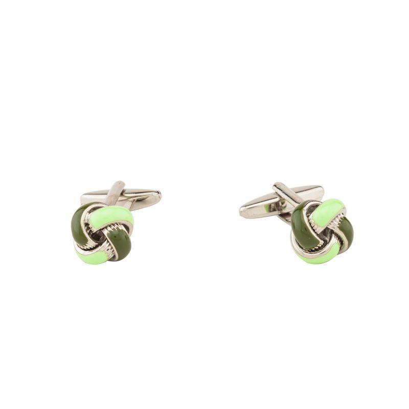 Buy Dapper Homme Self Design Green Color Cufflinks For Men online
