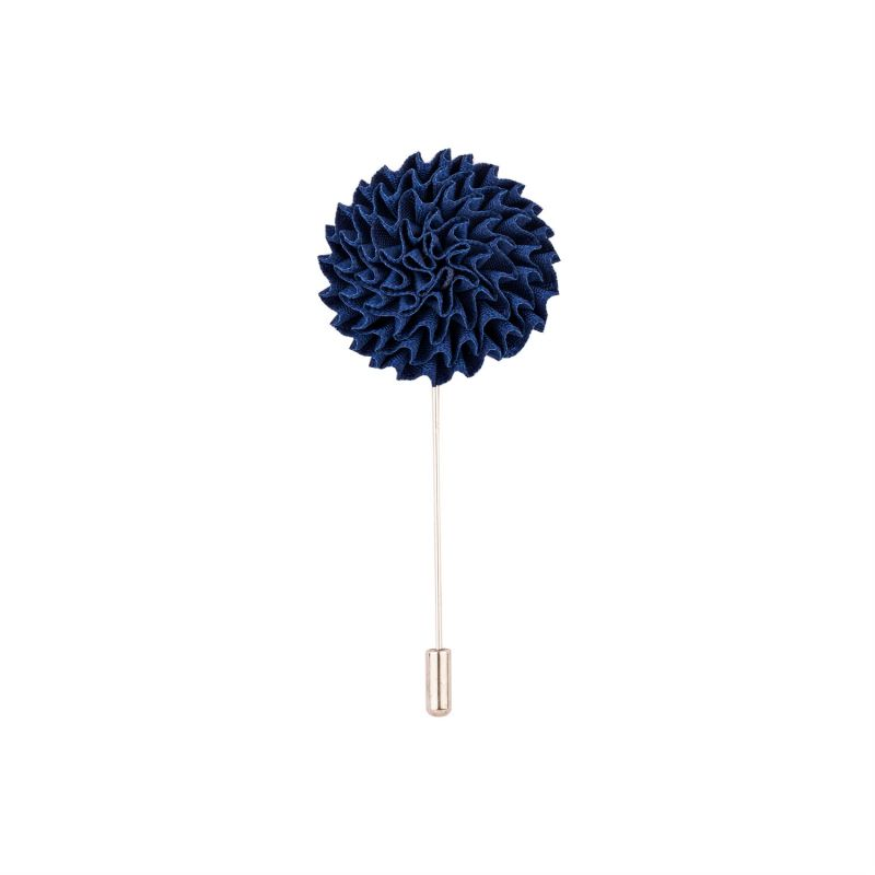 Buy Dapper Homme Blue Marigold Flower Lapel Pin online