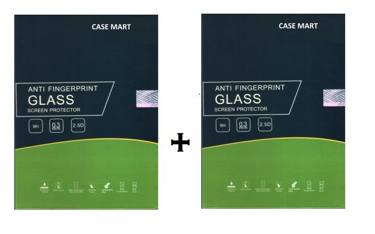 Buy Case Mart Transparent Lenovo A6000 Plus Tempered Glass (set Of 2) online