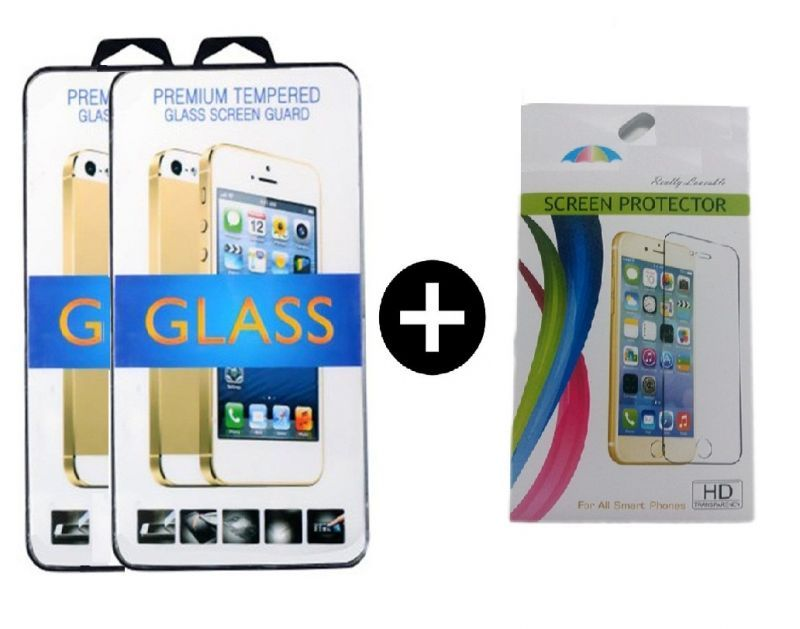 Buy Tempered Glass For Lenovo A7000 With Free Screen Guard (set Of 3) online