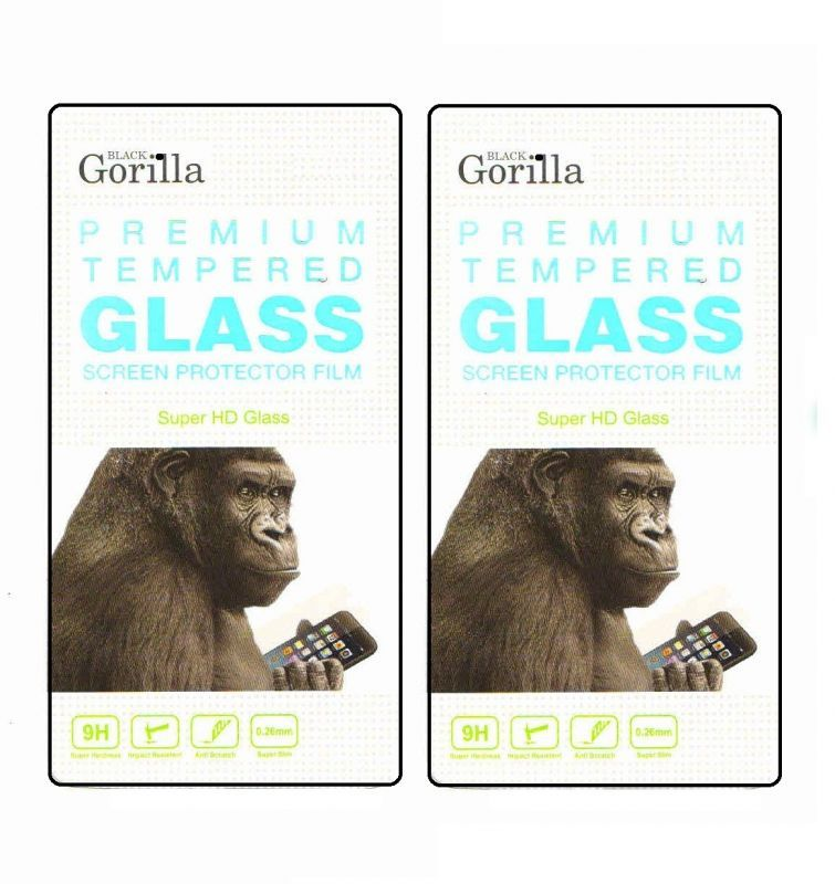 Buy Gorilla Premium Tempered Glass For Lenovo A6000 Plus( Pack Of 2) online