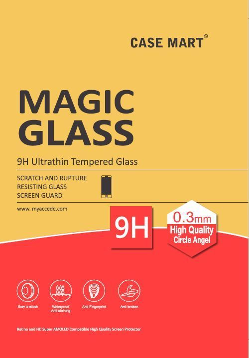 Buy Case Mart Transparent Lenovo A6000 Tempered Glass online