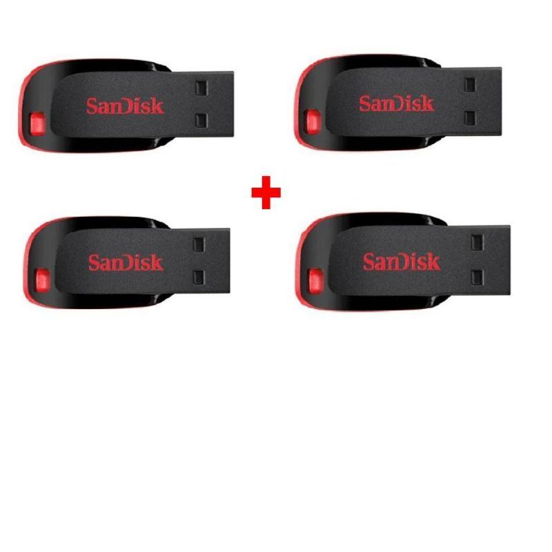 Buy Sandisk Cruzer Blade 4GB Pendrive - Pack Of 4(free Shipping) online