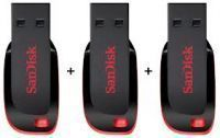 Buy Pack Of 3 8GB Sandisk Pen Drive online
