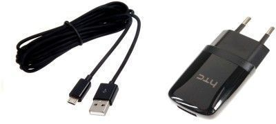 Buy Pursho USB Charger For Htc Mobile And Good Quality Micro & Data Sync Cable online