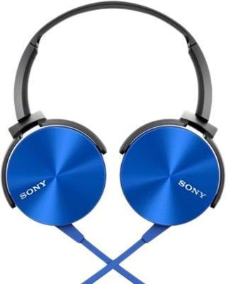 Buy Sony Mdr-xb450ap Extra Bass Blue Headphone With Mic online