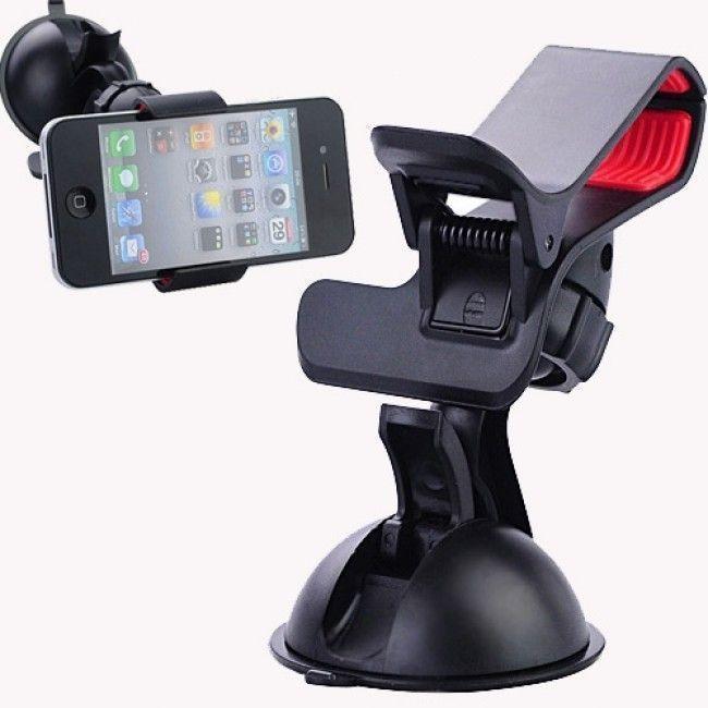 Buy Esmartdeals Car Mount Dual Clamp Clip Bracket Mobile Holder online