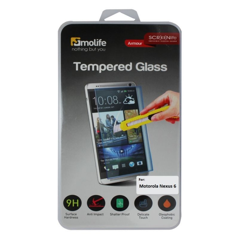 Buy Molife Tempered Glass Screen Protector For Moto Nexus 6 online