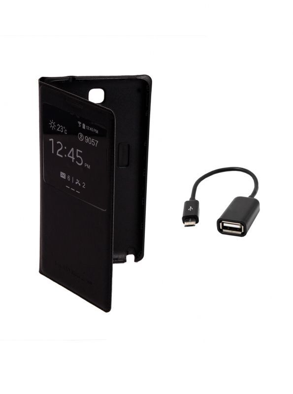 Buy Koloredge Flip Cover Plus Otg Cable For Samsung Galaxy Note 3 7505 -black online