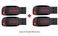 Buy Combo Of 4 Sandisk 8GB Cruzer Blade Pendrive online