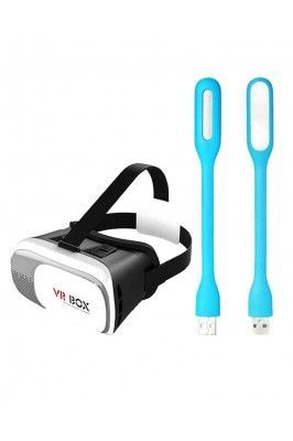 Buy Vr Box 3d Virtual Reality Headset Glass With LED USB Light online