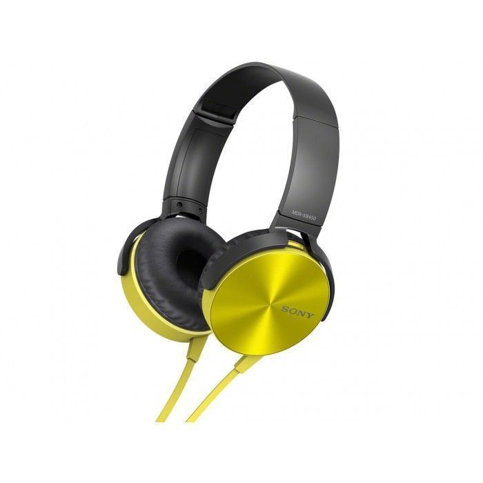 Buy Sony Mdr-xb450 Extra Bass Yellow Headphone online