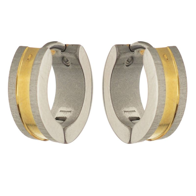 Buy Sanaa Creations Gold And Silver Plated Alloy Hoop Earrings For Men online