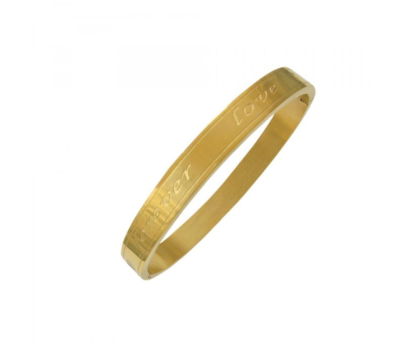Buy Sanaa Creations Forever Love Gold Plated Kada For Men All Occasions online