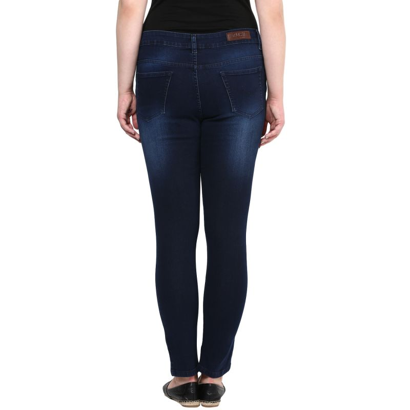 Zush Dark Blue Color Mid Rise Plus Sized Women S Cotton Jeans Online Best Prices In India Rediff Ping