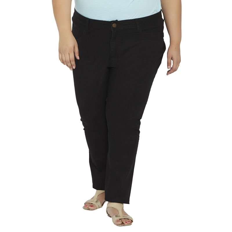 Buy Zush Mid Rise Regular Fit Blue Color Cotton Blend Plus Sized Jeans For Womens Zu1032 online