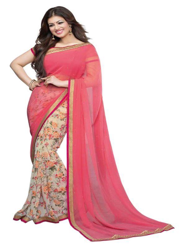 Buy Creative Fashion Ayesha Takia Bollywood Replica Pink Printed Saree (product Code - Ayesha_pink_new) online