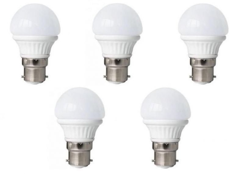 Buy LED Bulb 3w Bright White Light LED Bulb Saving Energy 1 Set Of 5 Pcs. online