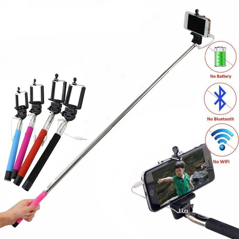 Buy Mini Pocket Wired Selfie Stick For Android & Ios Mobiles online