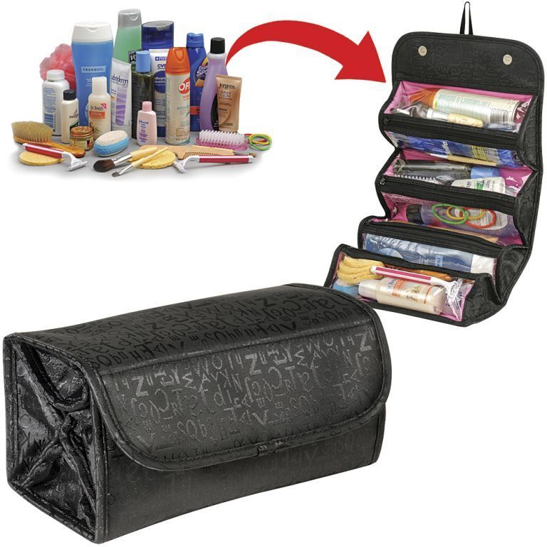 Buy 4 In 1 Roll N Go Cosmetic Bag & Travel Buddy Organizer online