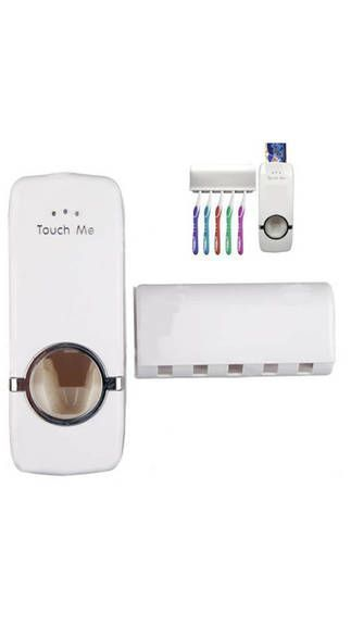 Buy One Press Automatic Toothpaste Dispenser With 5 Tooth Brush Holder For Home online