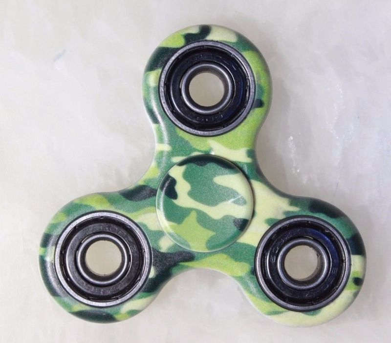 Buy Pattern Hand Fidget Tri Spinner Desk Toy Gadget Focus Helps Stress Add Adhd online