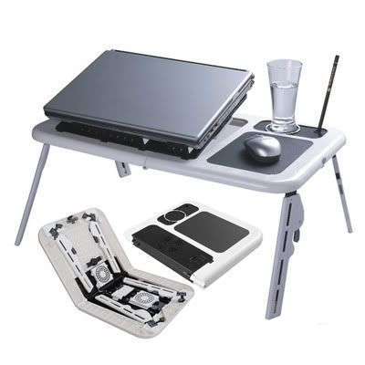 Buy Multipurpose Portable Laptop/study Table With 2 USB Fan E-table online